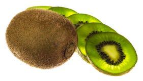 le fruit de fond a isolé le blanc de kiwi Photo stock
