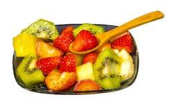 Le fruit frais Macédoine a coupé en cubes photo stock