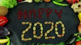 Le fruit 2020 heureux arrêtent le mouvement Photographie stock libre de droits