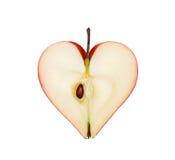 Le fruit une pomme sous forme de coeur Photo stock