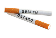 Le fumage est un risque sanitaire Images libres de droits