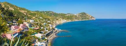 Le Fumarole beach near Sant`Angelo on Ischia island, Italy royalty free stock photo
