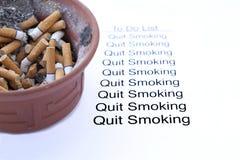 Le fumeur quitte le fumage image libre de droits