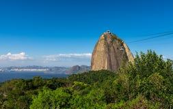 Le funiculaire à Sugar Loaf en Rio de Janeiro photo libre de droits