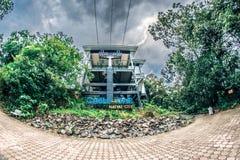 Le funiculaire de Hat Yai est situé sur une colline au parc municipal de Hat Yai images stock