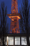 Le funkturm Berlin Allemagne le soir Photo stock