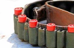 Le fusil rouge de balles Photo stock