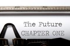 Le futur chapitre un photo libre de droits