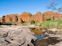 Le gâchis gâche chez Purnululu, Australie Image libre de droits