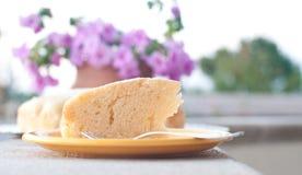 Le gâteau délicieux a fait le ‹d'†de ‹d'†seulement avec l'eau, la farine et le citron Photographie stock libre de droits