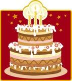 Le gâteau d'anniversaire Photographie stock libre de droits