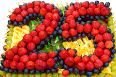 Le gâteau d'anniversaire Image libre de droits