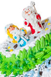 Le gâteau d'an neuf Image libre de droits