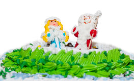 Le gâteau d'an neuf Images stock