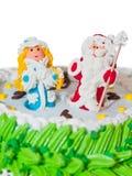 Le gâteau d'an neuf Photo stock