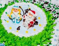 Le gâteau d'an neuf Photographie stock