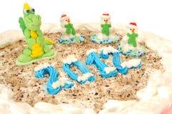 Le gâteau d'an neuf Images libres de droits
