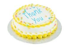 le gâteau de fête vous remercient images libres de droits