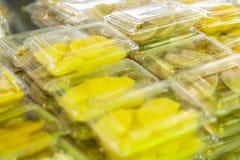 Le gâteau de paume de grog avec l'écrimage de noix de coco est les desserts traditionnels thaïlandais images stock