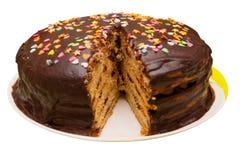 Couches de gâteau de tarte images stock