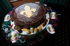 Le gâteau du marié de NOLA Photo libre de droits
