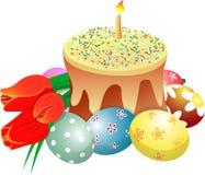 Le gâteau eggs des tylips Image stock