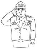 Le Général Army Illustration Libre de Droits