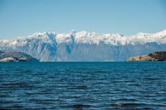 Le Général Carrera, Carretera austral, route 7, Chili de Lago Images libres de droits