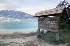 Le Général Carrera Lake, Chili Photos stock