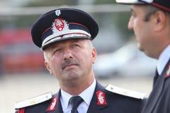 Le Général Dan Paul Iamandi, chef des sapeurs-pompiers roumains image stock