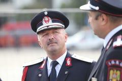 Le Général Dan Paul Iamandi, chef des sapeurs-pompiers roumains images stock