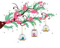 Le gabbie per uccelli Colourful Fotografia Stock