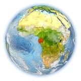 Le Gabon sur terre d'isolement illustration libre de droits
