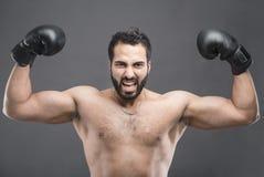 Le gagnant de boxe Photographie stock libre de droits