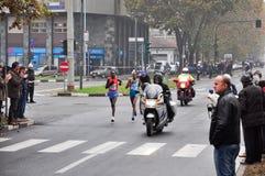 Le gagnant féminin du marathon 2010 de Turin Image stock