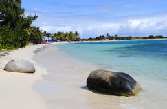 Le Gallion Beach St Maarten. In the West Indies Royalty Free Stock Photo