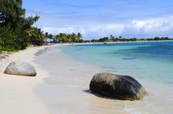Le Gallion Beach St Maarten royalty free stock photo