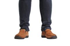 Le gambe del giovane uomo di modo Immagine Stock Libera da Diritti