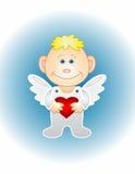 Le garçon-ange avec le coeur Photographie stock