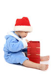 Le garçon avec un cadeau Photo libre de droits