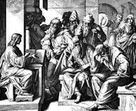 Le garçon Jésus dans le temple Images stock