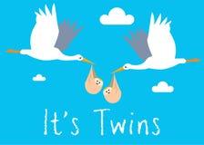 Le garçon jumelle l'illustration de naissance Photo stock
