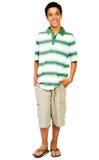 le garçon remet des poches d'adolescent Image stock