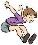 Le garçon sauté Images libres de droits
