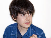 Le garçon sourit Photographie stock libre de droits