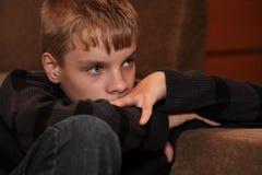 Le garçon triste Images libres de droits
