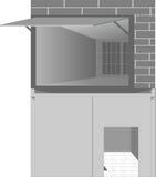 Le garage avec les portes s'ouvrent Image libre de droits