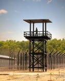 Le gardien de prison dans la tour Photos libres de droits