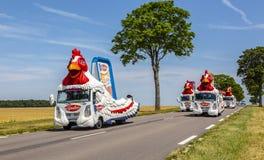 Le Gaulois Caravan - Tour de France 2017 Fotografie Stock Libere da Diritti
