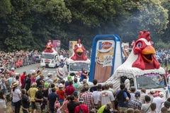 Le Gaulois Husvagn - Tour de France 2015 Arkivfoto